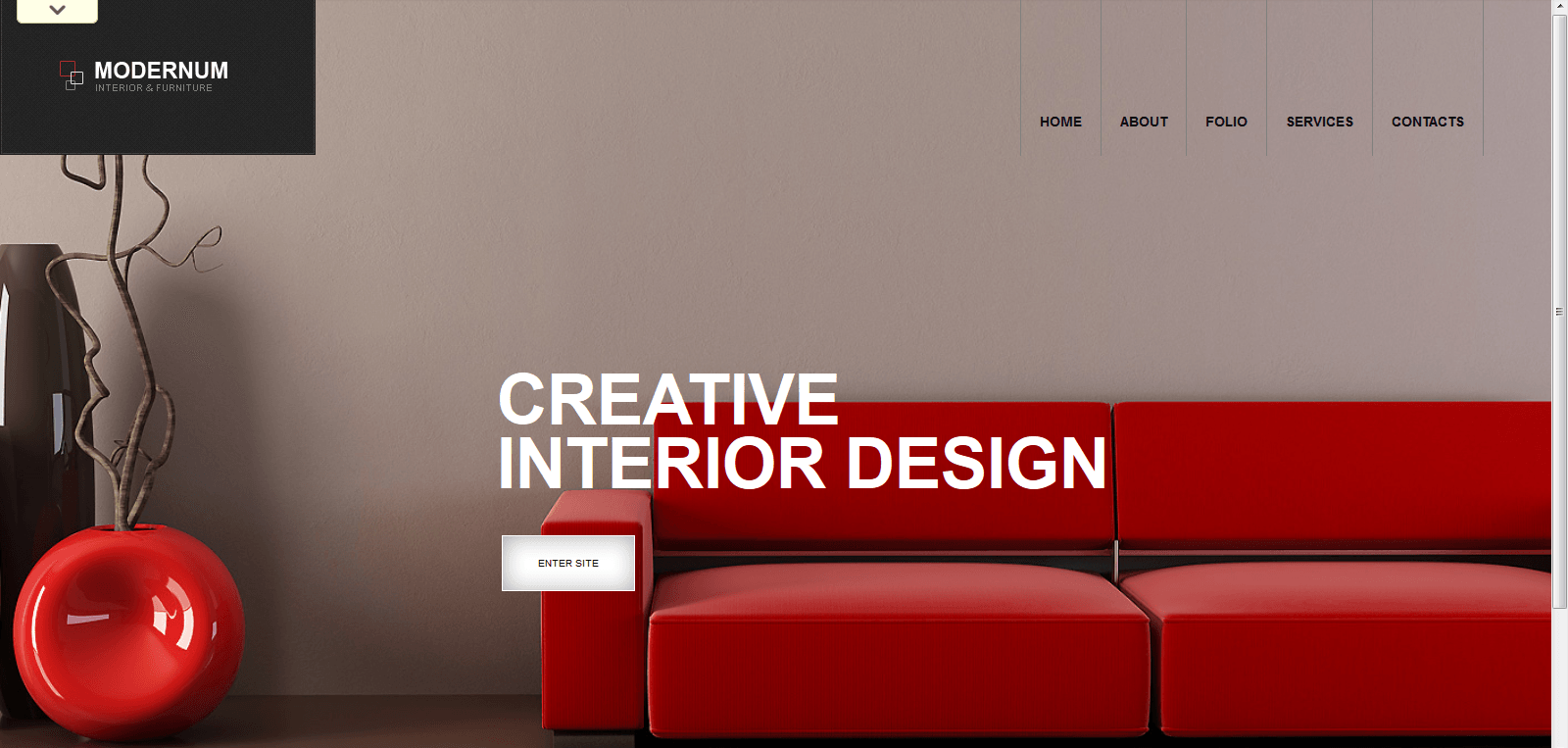 Beautiful collection of wordpress interior design themes Interior decorating websites