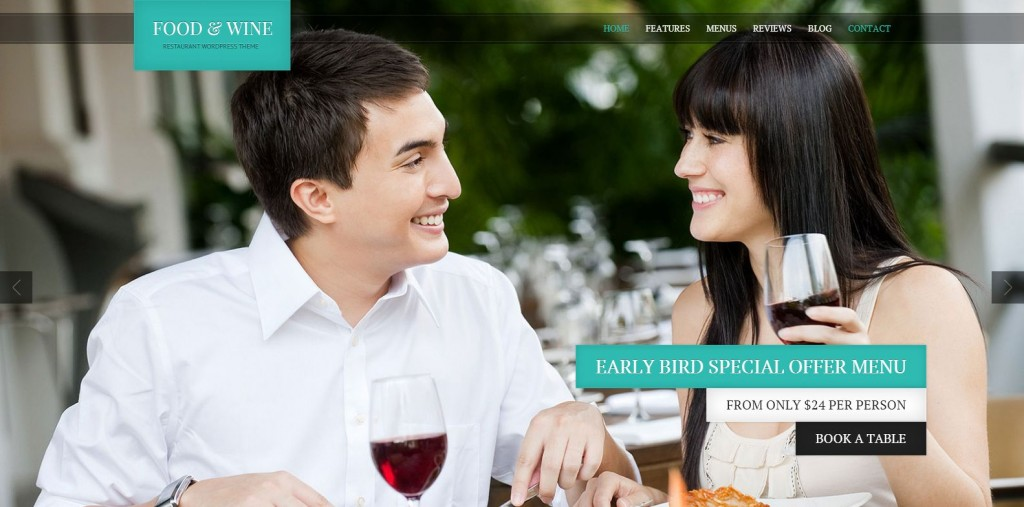 Food & Wine - Responsive WordPress Theme