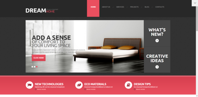 Dream - Interior Design Responsive WordPress Theme