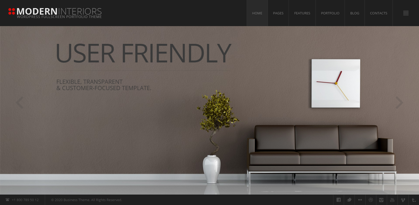 20 modern interior design furniture wordpress themes for Interior theme ideas