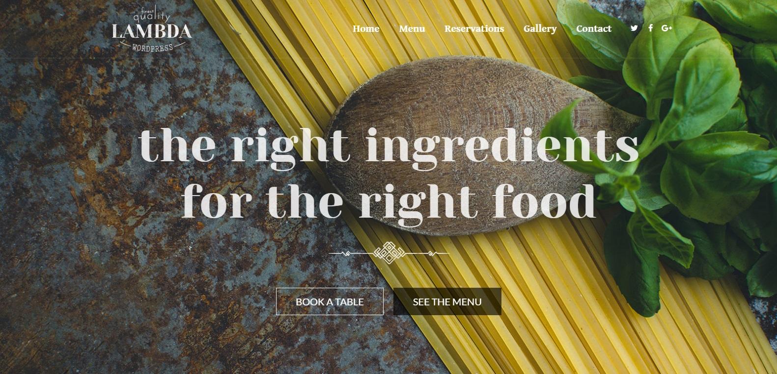Lambda - Responsive Bootstrap Restaurant Theme