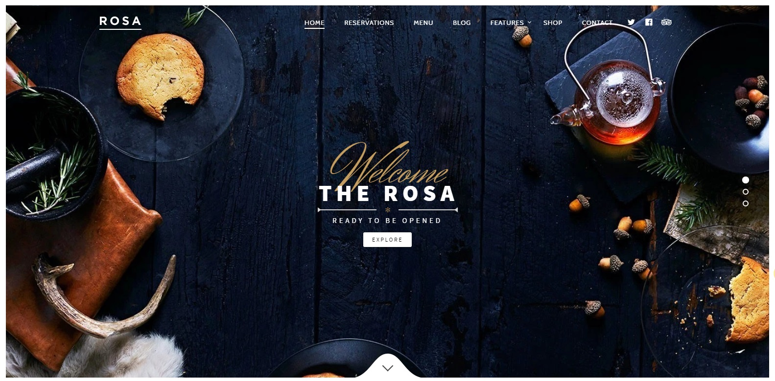 Rosa - WP Restaurant Theme