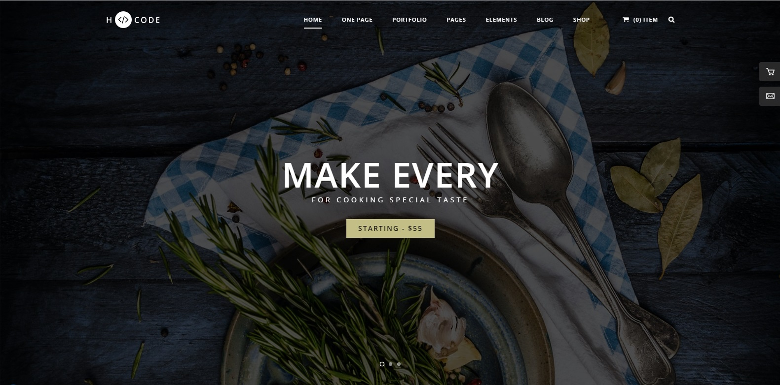 H-Code Responsive WordPress Restaurant Theme